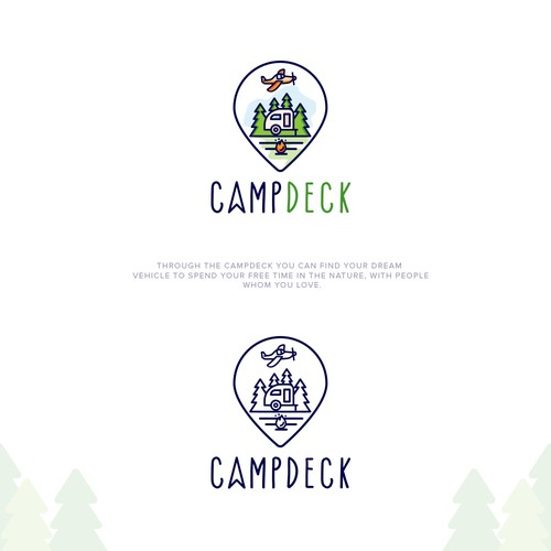 Logo for camping
