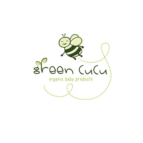 Create a cute logo for organic baby products