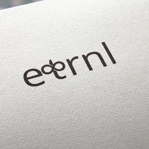 minimal typography based logo