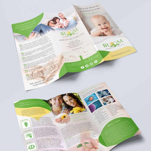 Brochure for fertility clinic