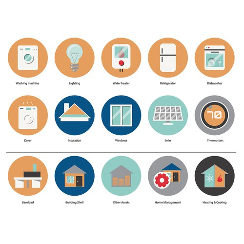 icons for energy efficiency home attributes
