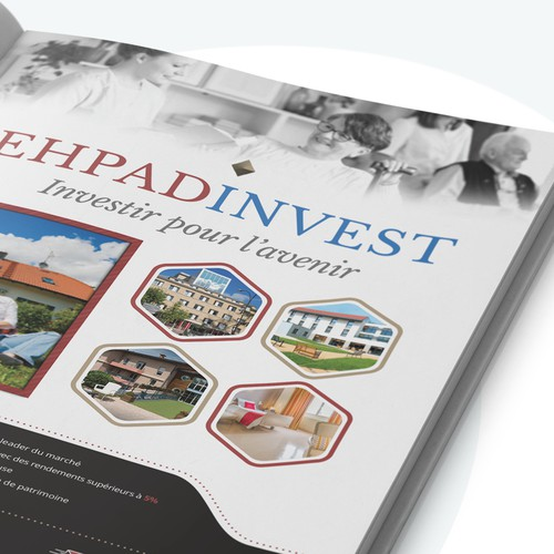 Magazine one page Ads for EHPADINVEST