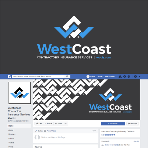 Logo and facebook cover for an Insurance company