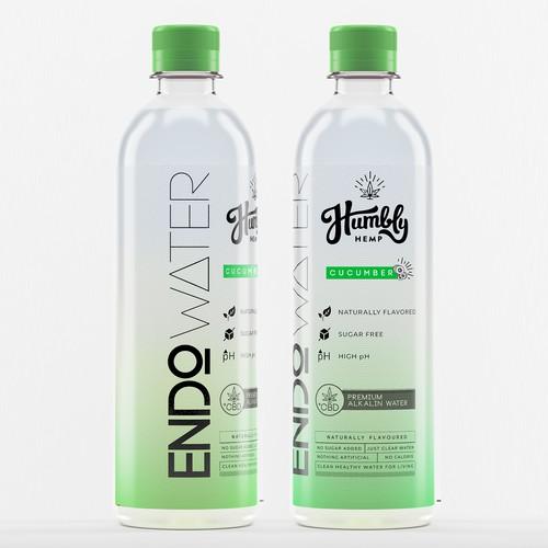 Modern Alkaline water packaging.