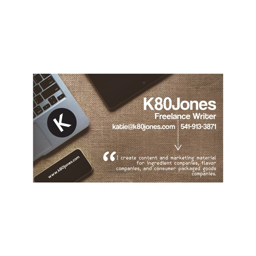 Business Card Design for K80 Jones
