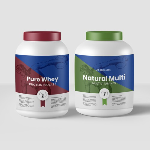 Packaging Concept for Protein Supplements
