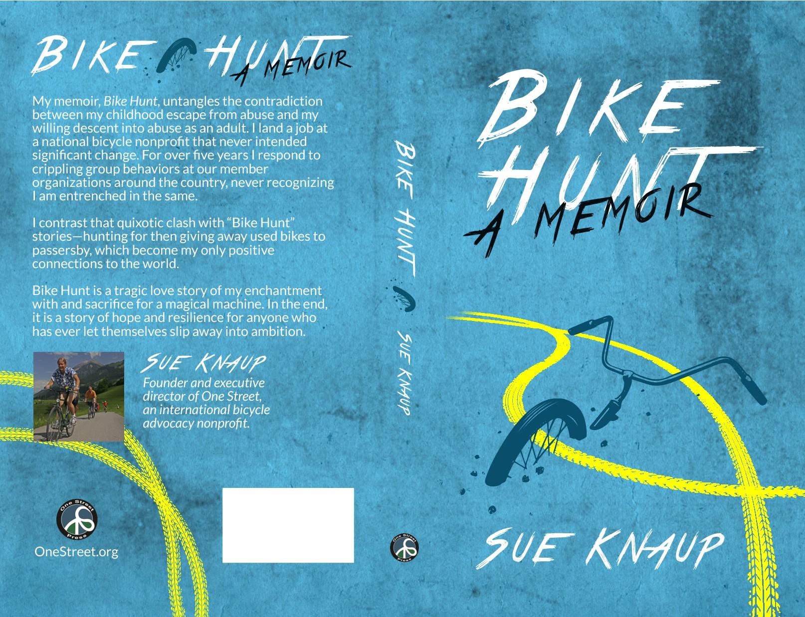 Book cover for disturbing bicycle memoir