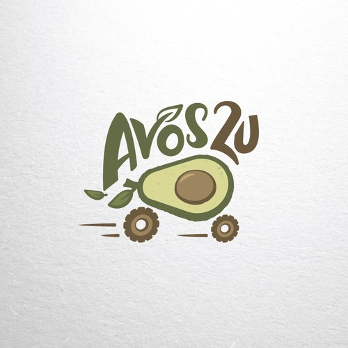 Logo for avocado farm, fresh avocado delivery.