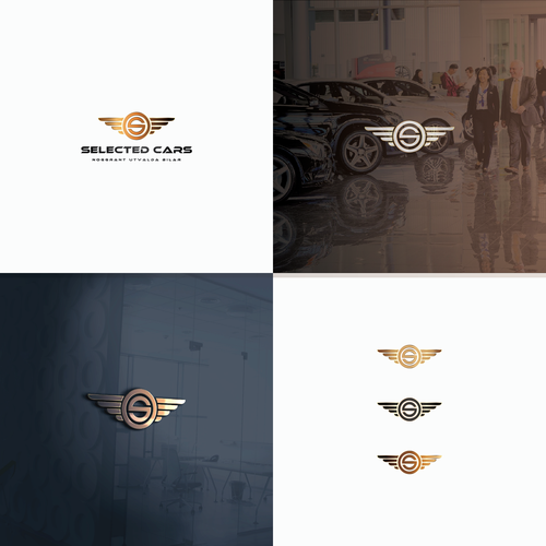 luxury logo for selected cars in Swedish
