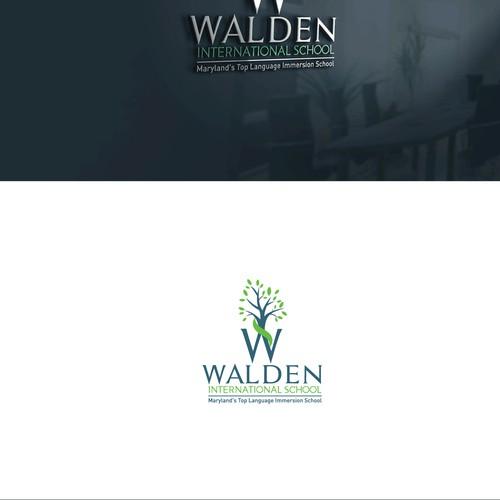 Walden international school logo design