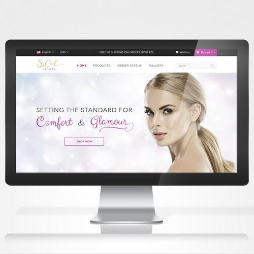 Landing page for new false eyelash
