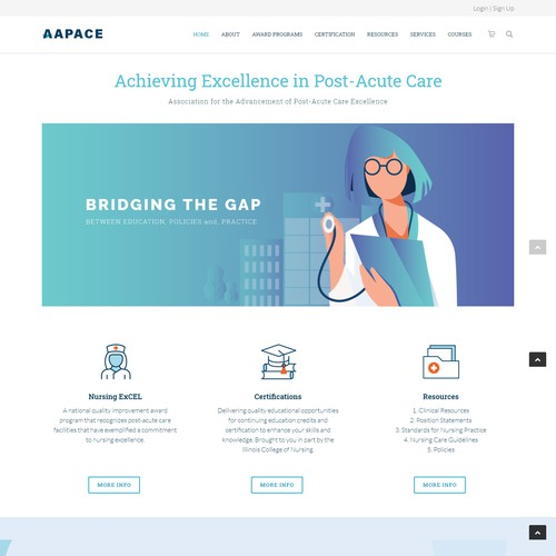 Website Design For AAPACE