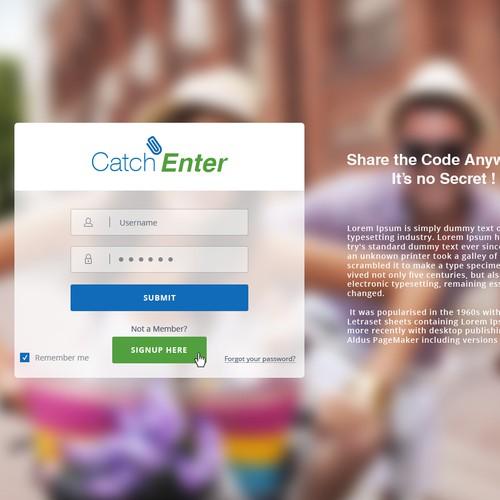 New Social Sharing Interface Webpage