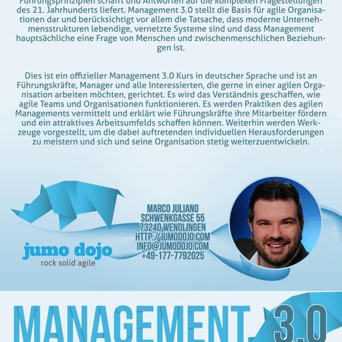 Flyer für Management 3.0 Seminar / Workshop