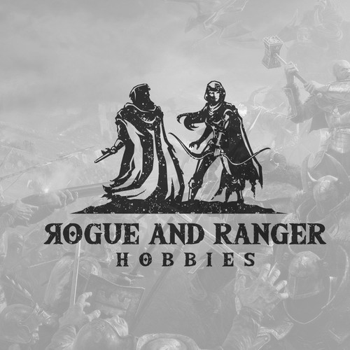 D&D and tabletop games, rogue and ranger hobbies logo design