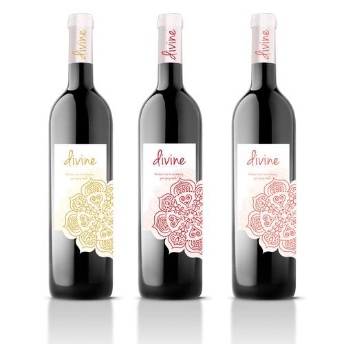 Divine wine label