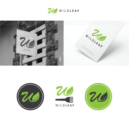 logo design for wild leaf