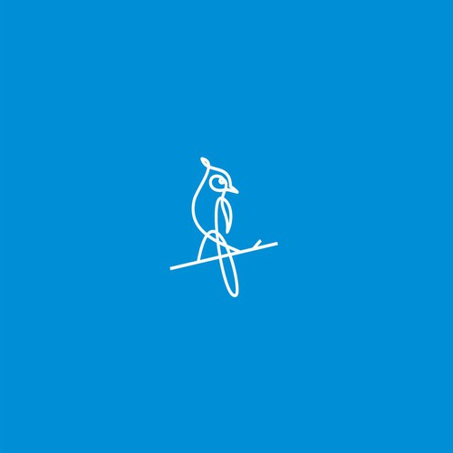 blue jay goods logo concept