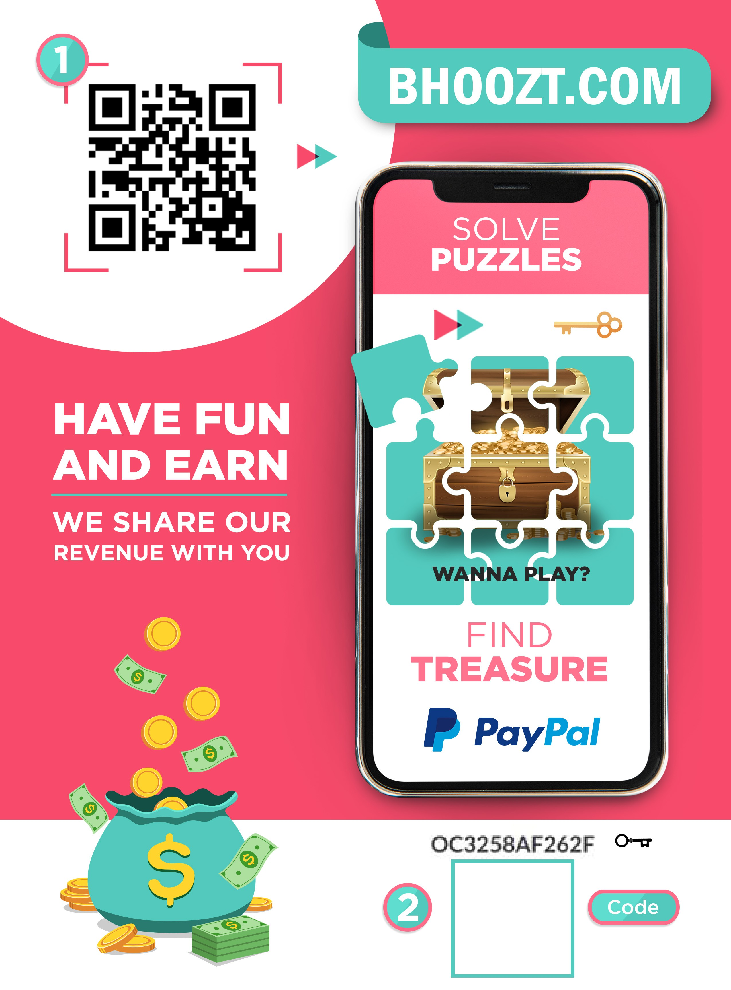 Fun retail point of sale to get shoppers playing puzzles