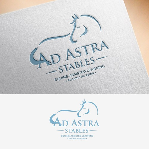 Winning Logo for Ad Astra Stables Equine Assisted Learning