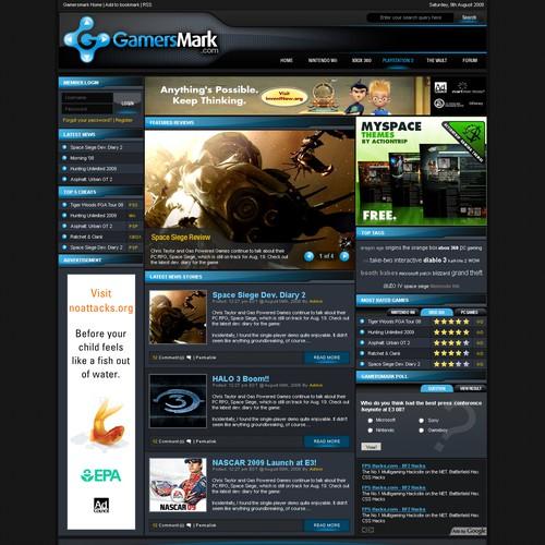 Gamersmark.com Website Template