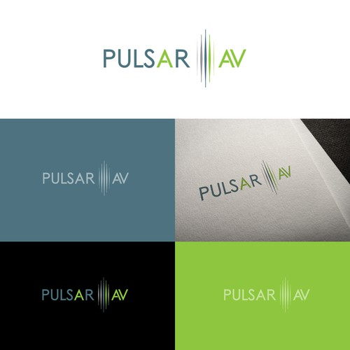 Logo concept for Pulsar AV Profesional Audio Video Technic