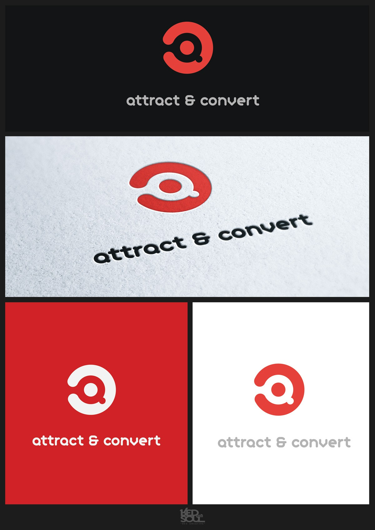 Modern and Minimalistic Logo Design needed for a Online Marketing Agency 'Attract & Convert'