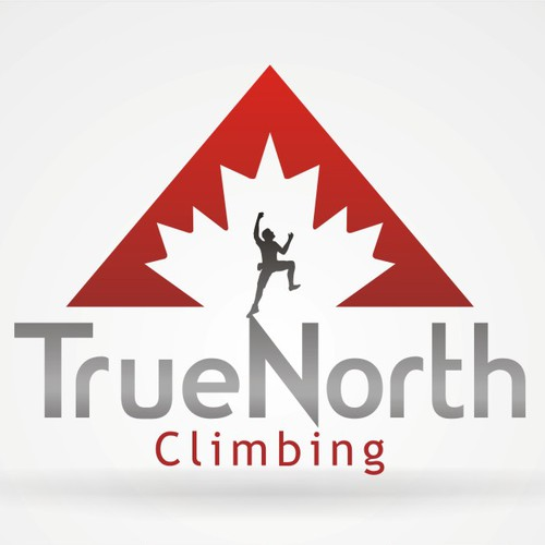 A logo for a new indoor rock climbing gym
