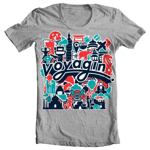 """""""Voyagin"""" t-shirt design"""