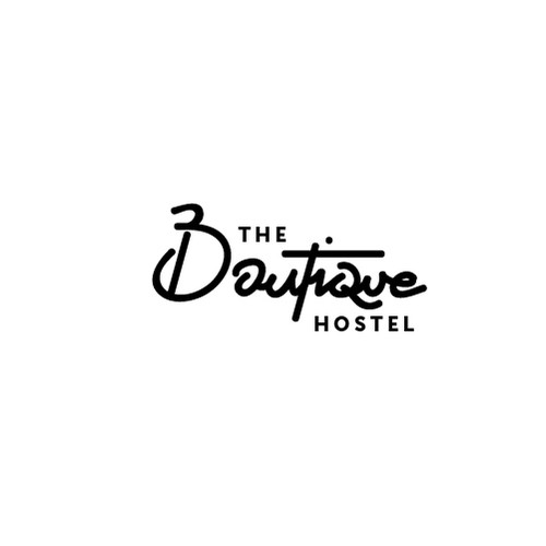a costum hand drawn font logo design for the Boutique hostel