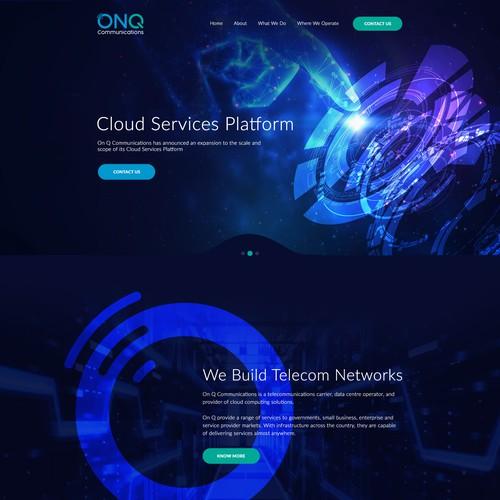 ONQ web design