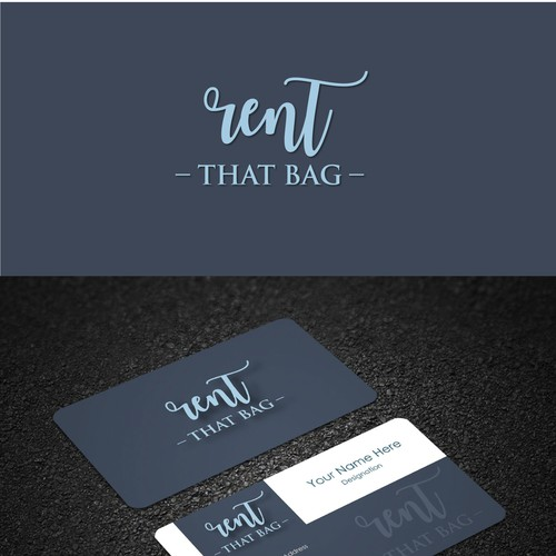 clean and simple logo concept for Rent the Bag.