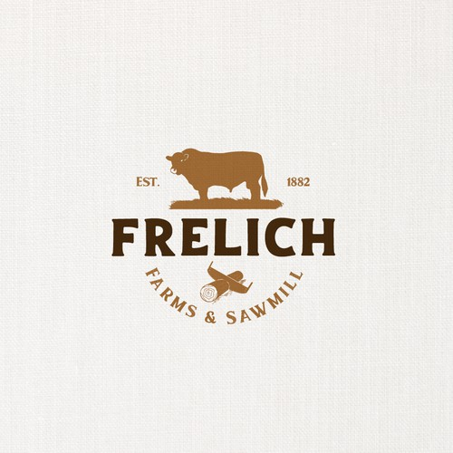 Vintage logo for an old farm