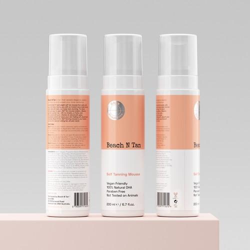 Tanning Mousse Minimalistic Label Design