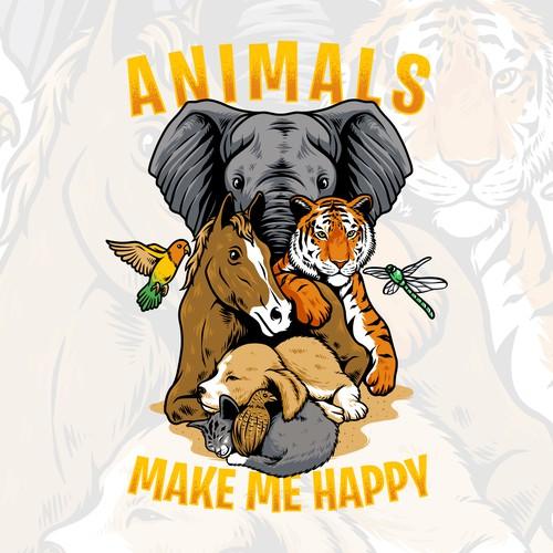 animals make me happy