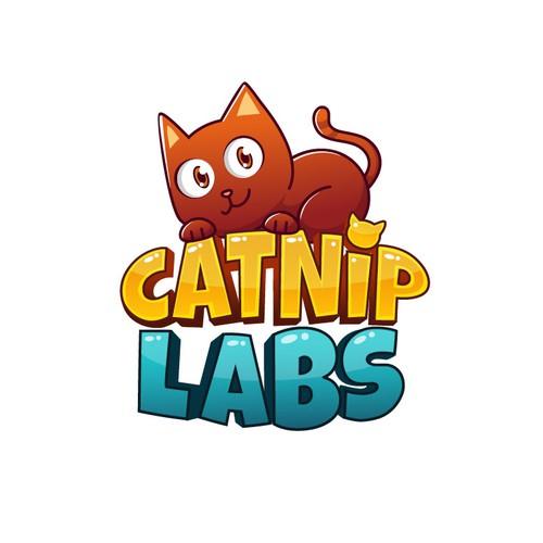 Fun cat logo for Catnip Labs