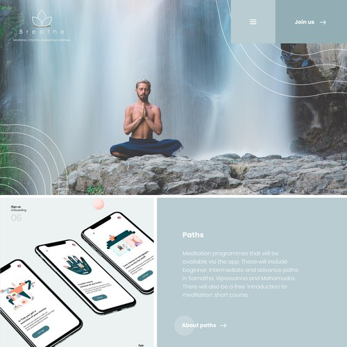 Webdesign for yoga / meditation website