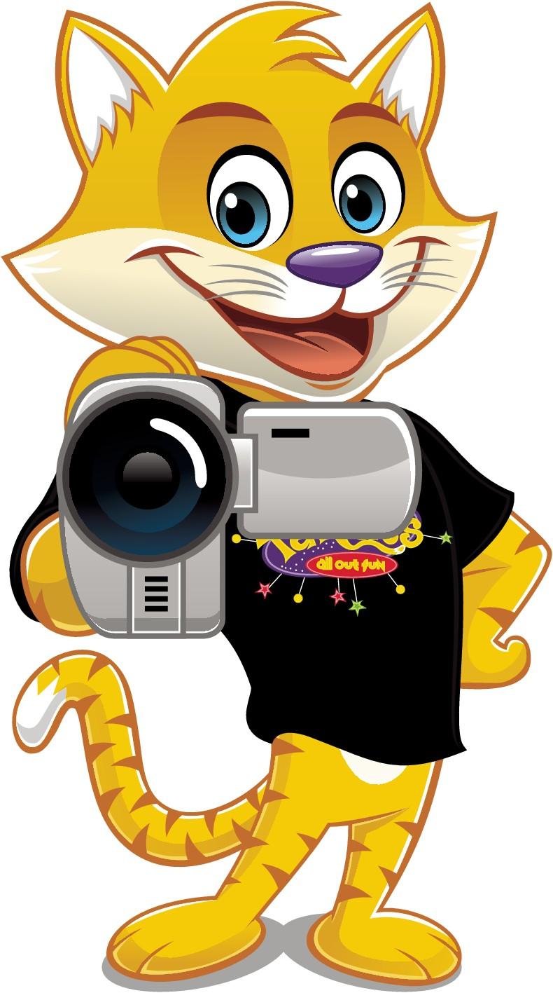 FatCats Character Holding Camera