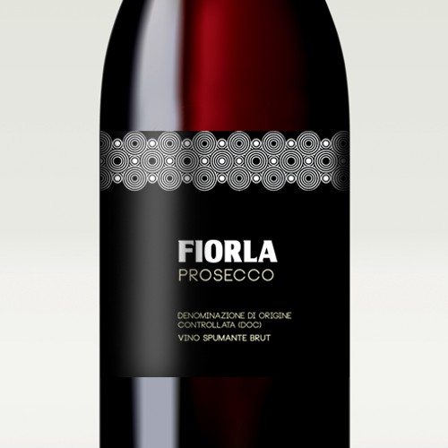 Wine label design for the italian sparkling wine Fiorla