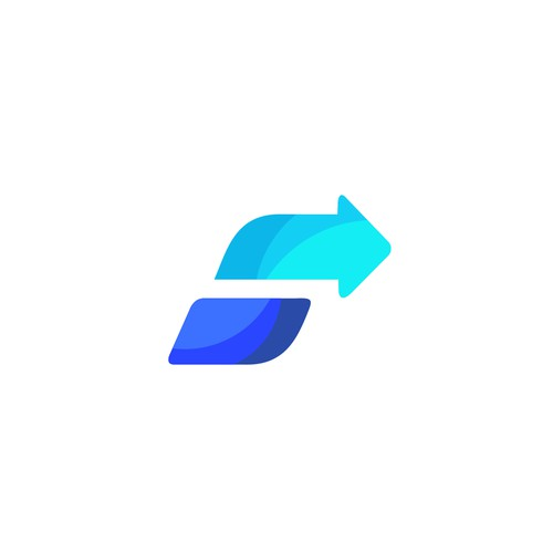 Letter S with arrow