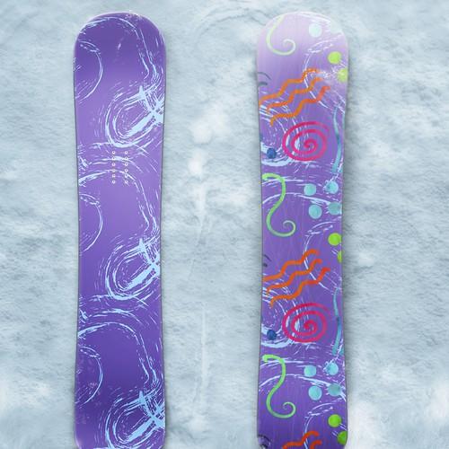 Snowboard funky pattern