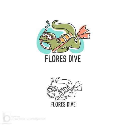 Logo Design for Flores Dive