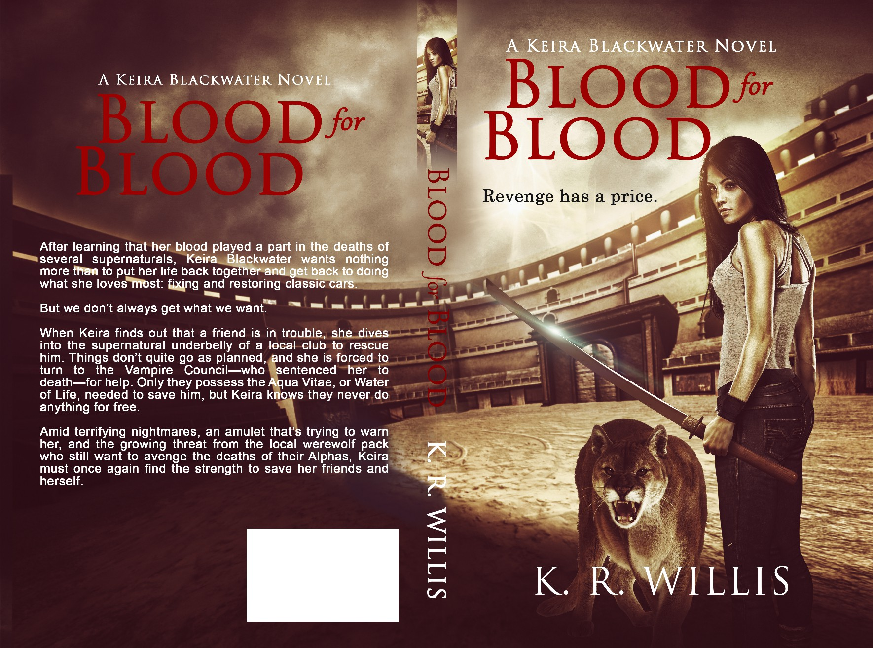 Create exciting book cover for 2nd book in urban fantasy series.