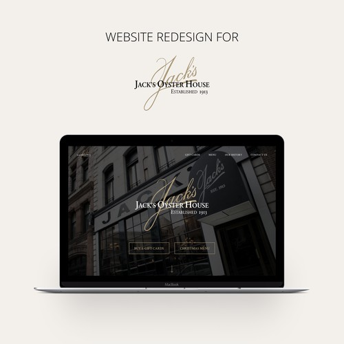 Restaurant website redesign
