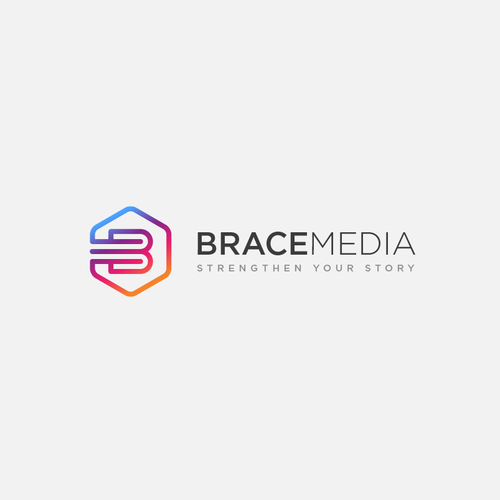 Strenghten logo for BraceMedia.