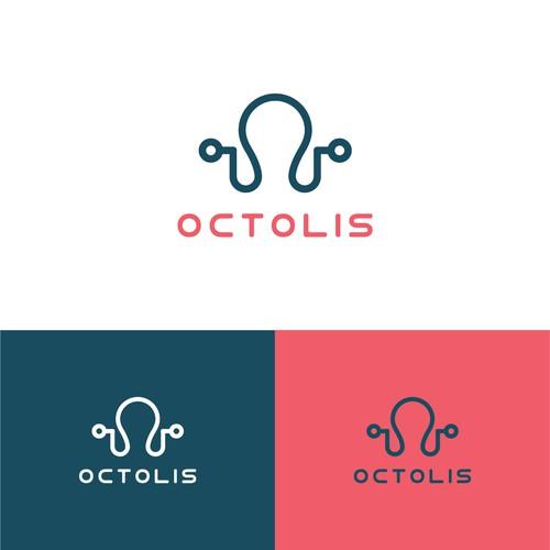 Modern logo design for Octolis web agency