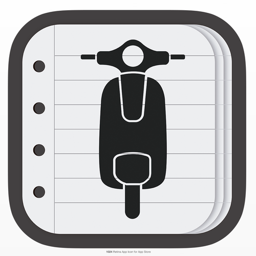 Icon for motorcycle note taking application