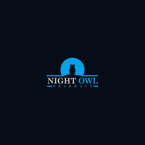 logo concept for Night Owl Pharmacy