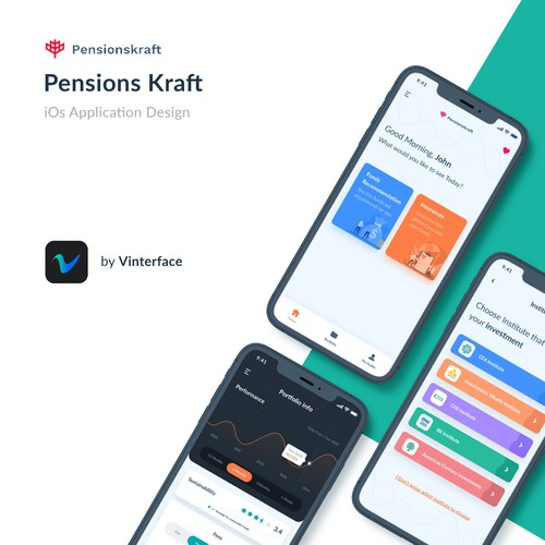 Pensionkraft Mobile App Design