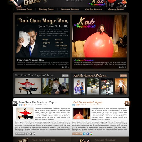 New website design wanted for www.danchanmagic.com